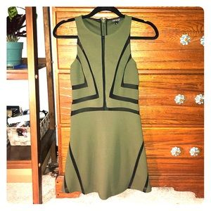 TOPSHOP DRESS WITH MESH CUT OUTS